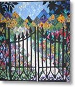 Gate Into The Garden Metal Print