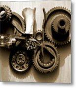 Gears IIi Metal Print by Jan Brieger-Scranton