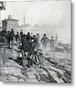 Gen Shermans Troops Destroying Railroad Before The Evacuation Of Atlanta - C 1864 Metal Print