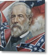 General Robert E Lee Metal Print by Linda Eades Blackburn