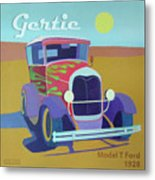 Gertie Model T Metal Print by Evie Cook