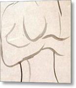 Gestural Nude Sketch Metal Print