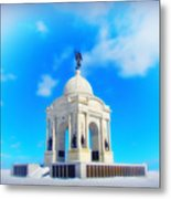 Gettysburg Memorial In Winter Metal Print