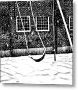 Ghost On A Swing Metal Print