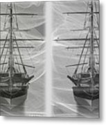 Ghost Ship - Gently Cross Your Eyes And Focus On The Middle Image Metal Print
