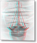 Ghost Ship - Use Red-cyan 3d Glasses Metal Print