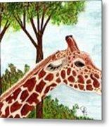 Giraffe Profile Metal Print
