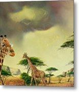 Giraffes At Thabazimba Metal Print