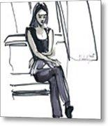 Girl Near The Window Metal Print