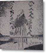 Girl On A Swing Metal Print