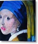 Girl With The Pearl Earring  Metal Print