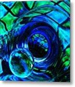 Glass Abstract 226 Metal Print by Sarah Loft