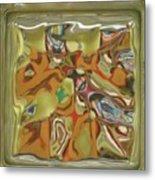 Glass Block Metal Print