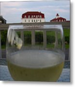 Glass Of Wine Metal Print