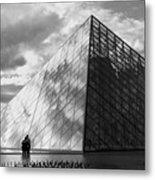 Glass Pyramid. Louvre. Paris.  Metal Print by Bernard Jaubert