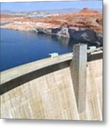Glen Canyon Dam Metal Print