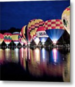 Glowing Balloons Metal Print