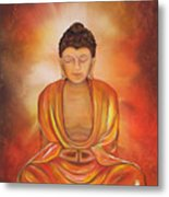Glowing Buddha  Metal Print