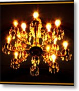Glowing Chandelier With Border Metal Print