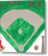 Go Red Sox Metal Print by Rosemary Mazzulla