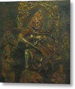 Goddess Kali Killing Demon Metal Print