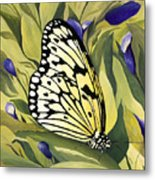 Gold Butterfly In Branson Metal Print