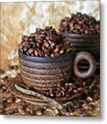Gold Coffee Metal Print by Tracy Hall