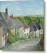 Gold Hill  Shaftesbury Metal Print