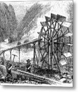 Gold Mining, 1860 Metal Print