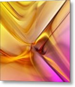 Golden Abstract 042711 Metal Print