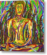 Golden Buddha Metal Print