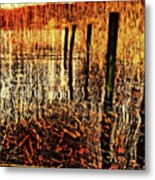Golden Decay Metal Print