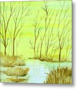 Golden Fall Day  Metal Print