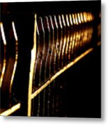 Golden Fence Metal Print
