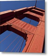 Golden Gate Bridge At An Angle Metal Print