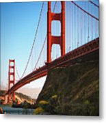 Golden Gate Bridge Sausalito Metal Print by Doug Sturgess
