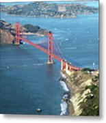 Golden Gate Bridge Metal Print by Stickney Design