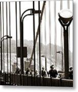 Golden Gate Suspension Metal Print