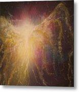 Golden Healing Angel Metal Print