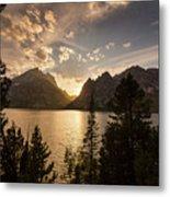 Golden Jenny Lake View Metal Print