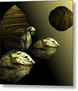 Golden Planet Metal Print by Ricky Kendall