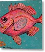 Golden Redfish Metal Print