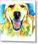 Golden Retriever Portrait Metal Print