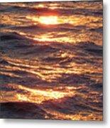 Golden Waters Metal Print