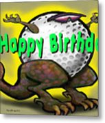 Golf A Saurus Birthday Metal Print