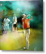 Golf In Club Fontana Austria 03 Metal Print