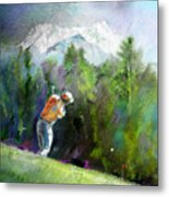 Golf In Crans Sur Sierre Switzerland 02 Metal Print
