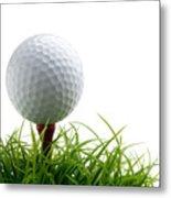 Golfball Metal Print
