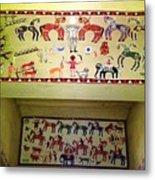 Gond Tribal Art Metal Print