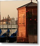 Gondal Station At San Marco Metal Print